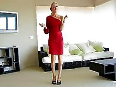 Emily beautiful sexy blonde masturbates
