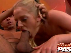 Estelle is one hot blonde babe with a curvy body and a