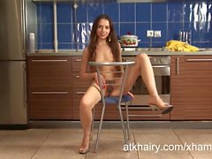 Young and hairy Russian girl Barbara shows you her treasure