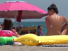 Visible Tampon Pussy String Nudist Beach Hot Ass Lady Spycam