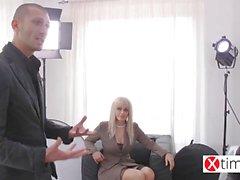 Russian model gang bang with big italian cocks