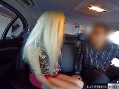 Teen uber taxi rider Naomi Woods fucks driver