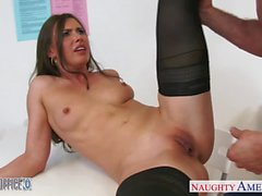 Beauty Casey Calvert fucking in the office