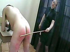 Teacher spanking student