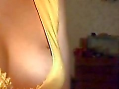 Russian babe sucks dick on webcam