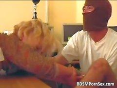 Two robbers caught blonde secretary