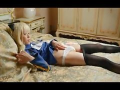 straight asian cosplay fisting anal lingerie pantyhose dildo 51