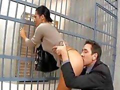 börtönben eine látogató feleséget seggbekurja einem