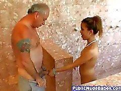 Asian Blowjobs Old Man In Public Shower