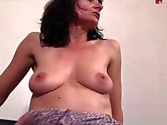 FRENCH MATURE 13 brunette anal mom mature milf threesome