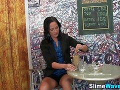 Glam babe bukkake slimed