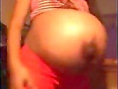 De Jade Muy embarazada que