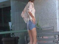 FTV Maria - Going commando under jean shorts