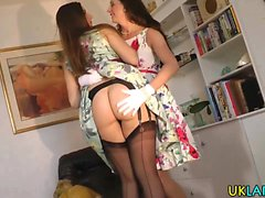 Stockings babe eaten out