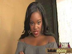 Interracial bukkake with a horny sexy ebony 27