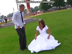 Astonishing bride and her husband get some help on their honeymoon