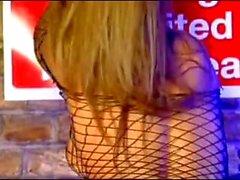Dionne Daniels in Fishnet Dress