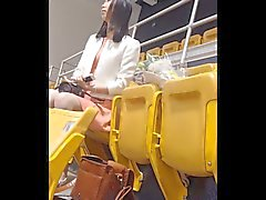 Voyeur of Asian with great legs in flats.