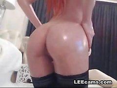 Hot redhead pussy perfect tits