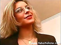 Italian office manager gets her boys in for some hot fucking