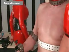 Two busty big boobed latex horny milf part3