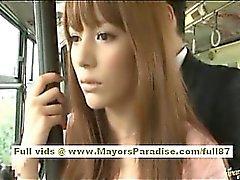 Miho Maeshima Çin kız da gözlük cum yükü alır
