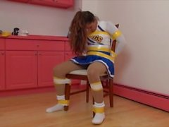 Duct taped cheerleader