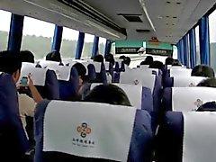 Milf Masturbates on Chinese Bus