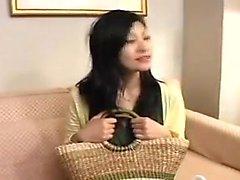 Seksikäs japani vaimonsa Ihana rintani ottaa kuuma cumload päälle