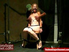 Redhead MILF Nipple Orgasm Torture