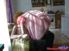 Skinny hot amateur MILF goes all the way