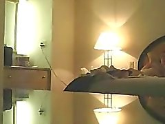Wife Michelle voyeured naked on her bed