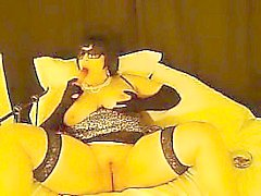 Chubby Woman Smokes And Masturbates