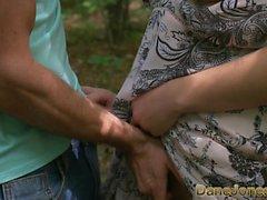 Dane Jones Serbian teen takes lovers fat cock in forest sex