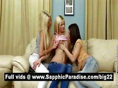 Brunette angeli e lesbiche ultra troie bionda kising in una tre vie di Lesbian dell'orgia