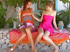 Two teenagers from usa playing