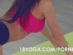 Busty Teen Kitana Lure Anal Fucked During Yoga Session and Creampied