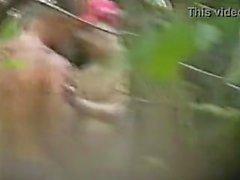 Spycam Клетчатая ебет по носильщик открытом воздухе Секретный
