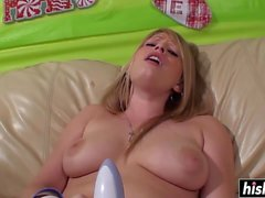 Gorgeous girl rides a fat dick