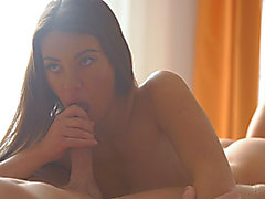 French coed Tiffany Doll finishes her workout with a horny blowjob and a hot hardcore pussy...