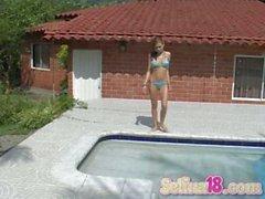 Selena 18 at the pool