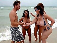 Cougars Charlee Chase, Holly Halston and Sara Jay fucking a