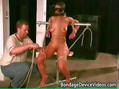 Kinky brunette babe finds pleasure part1