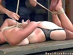 Sweet babe gets lusty torment
