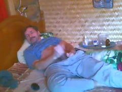 Str8 папаша спальне дрочить на камеру