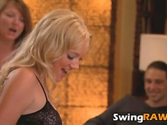 Hot couples enjoy this swinger party