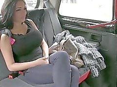 Amateur Emily creampied by taxi driver
