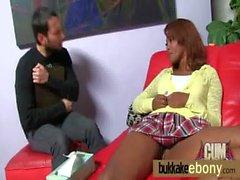 Ebony babe in group fucking 12