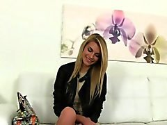 Shy blond fucked for job on casting