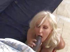 Tia Gunn and Angel Cakes sharing a black cock